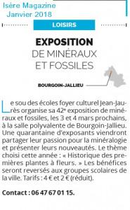 Article Isère Magazine  Janvier 2018
