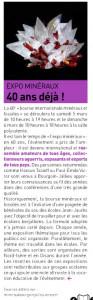Expo minéraux - Nouvelles 01-02 2016